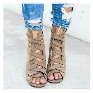 Shoes - ✨HOST PICK✨ Vegan Suede Ankle Booties, Heels